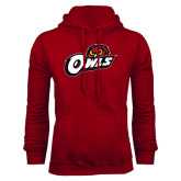 Cardinal Fleece Hoodie-Owls w/Owl Head