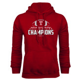 Cardinal Fleece Hood-2016 AAC East Division Football Champions