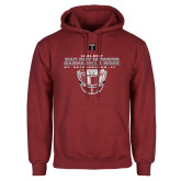 Cardinal Fleece Hoodie-Gasparilla Bowl - Face mask Design