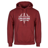 Cardinal Fleece Hoodie-Bad Boy Mowers Gasparilla Bowl Champions - Gradient