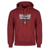 Cardinal Fleece Hoodie-Bad Boy Mowers Gasparilla Bowl Champions - Stadium