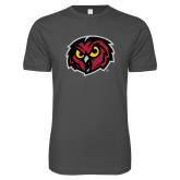 Next Level SoftStyle Charcoal T Shirt-Owl Head