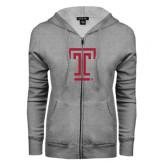 ENZA Ladies Grey Fleece Full Zip Hoodie-Knockout T