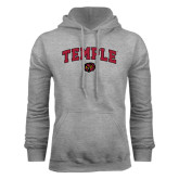 Grey Fleece Hoodie-Arched Temple w/ Owl Head
