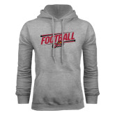 Grey Fleece Hood-Football Slanted