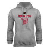Grey Fleece Hoodie-Temple Owls Womens Basketball w/Net