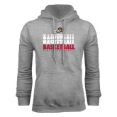 Grey Fleece Hood-Temple University Basketball Repeating