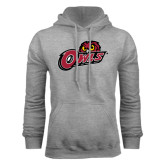 Grey Fleece Hoodie-Owls w/Owl Head