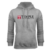 Grey Fleece Hood-University Mark