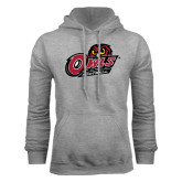 Grey Fleece Hoodie-Football