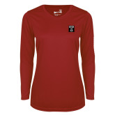 Ladies Syntrel Performance Cardinal Longsleeve Shirt-Box T