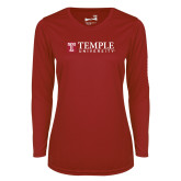 Ladies Syntrel Performance Cardinal Longsleeve Shirt-University Mark