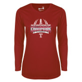 Ladies Syntrel Performance Cardinal Longsleeve Shirt-Bad Boy Mowers Gasparilla Bowl Champions - Gradient