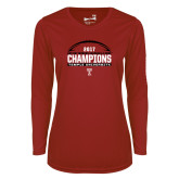 Ladies Syntrel Performance Cardinal Longsleeve Shirt-Bad Boy Mowers Gasparilla Bowl Champions - Football