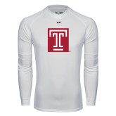 Under Armour White Long Sleeve Tech Tee-Box T