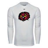 Under Armour White Long Sleeve Tech Tee-Owl Head
