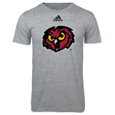 Adidas Sport Grey Logo T Shirt-Owl Head