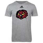 Adidas Sport Grey Logo T Shirt-Owl Head