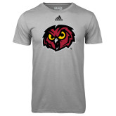Adidas Climalite Sport Grey Ultimate Performance Tee-Owl Head