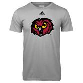 Adidas Climalite Sport Grey Ultimate Performance Tee-Owl Head