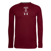Under Armour Sideline Cardinal Long Sleeve Tee-