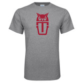 Grey T Shirt-Vintage Owl TU Stacked