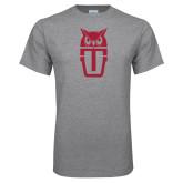 Grey T Shirt-Vintage Owl TU Stacked