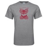 Grey T Shirt-Sitting Owl