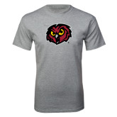Grey T Shirt-Owl Head