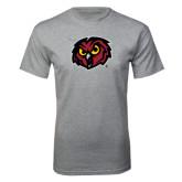 Grey T Shirt-Owl Head