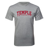 Grey T Shirt-Arched Temple University