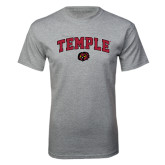 Grey T Shirt-Arched Temple w/ Owl Head
