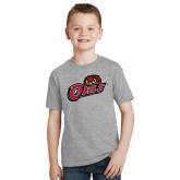 Youth Grey T-Shirt-Owls w/Owl Head