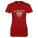 Next Level Ladies SoftStyle Junior Fitted Cardinal Tee-Gasparilla Bowl - Face mask Design