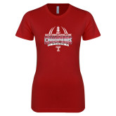 Next Level Ladies SoftStyle Junior Fitted Cardinal Tee-Bad Boy Mowers Gasparilla Bowl Champions - Gradient