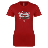 Next Level Ladies SoftStyle Junior Fitted Cardinal Tee-Bad Boy Mowers Gasparilla Bowl Champions - Stadium