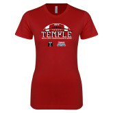 Next Level Ladies SoftStyle Junior Fitted Cardinal Tee-Temple 2018 Independence Bowl