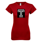 Next Level Ladies SoftStyle Junior Fitted Cardinal Tee-Box T