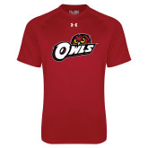 Under Armour Cardinal Tech Tee-Owls w/Owl Head