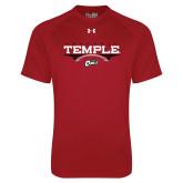Under Armour Cardinal Tech Tee-Temple Football Over Football