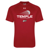 Under Armour Cardinal Tech Tee-Temple Lacrosse Modern