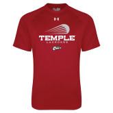 Under Armour Cardinal Tech Tee-Temple Lacrosse Modern