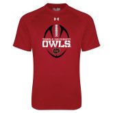 Under Armour Cardinal Tech Tee-Temple University Owls Football Vertical
