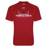 Under Armour Cardinal Tech Tee-Temple Owls Football w/Field