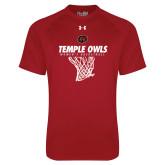Under Armour Cardinal Tech Tee-Temple Owls Womens Basketball w/Net