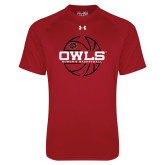 Under Armour Cardinal Tech Tee-Owls Womens Basketball w/Lined Ball