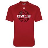 Under Armour Cardinal Tech Tee-Owls Womens Basketball w/Lined Ball
