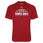 Under Armour Cardinal Tech Tee-Temple Owls Basketball Half Ball