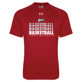 Under Armour Cardinal Tech Tee-Temple University Basketball Repeating