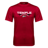 Syntrel Performance Cardinal Tee-Temple Football Over Football